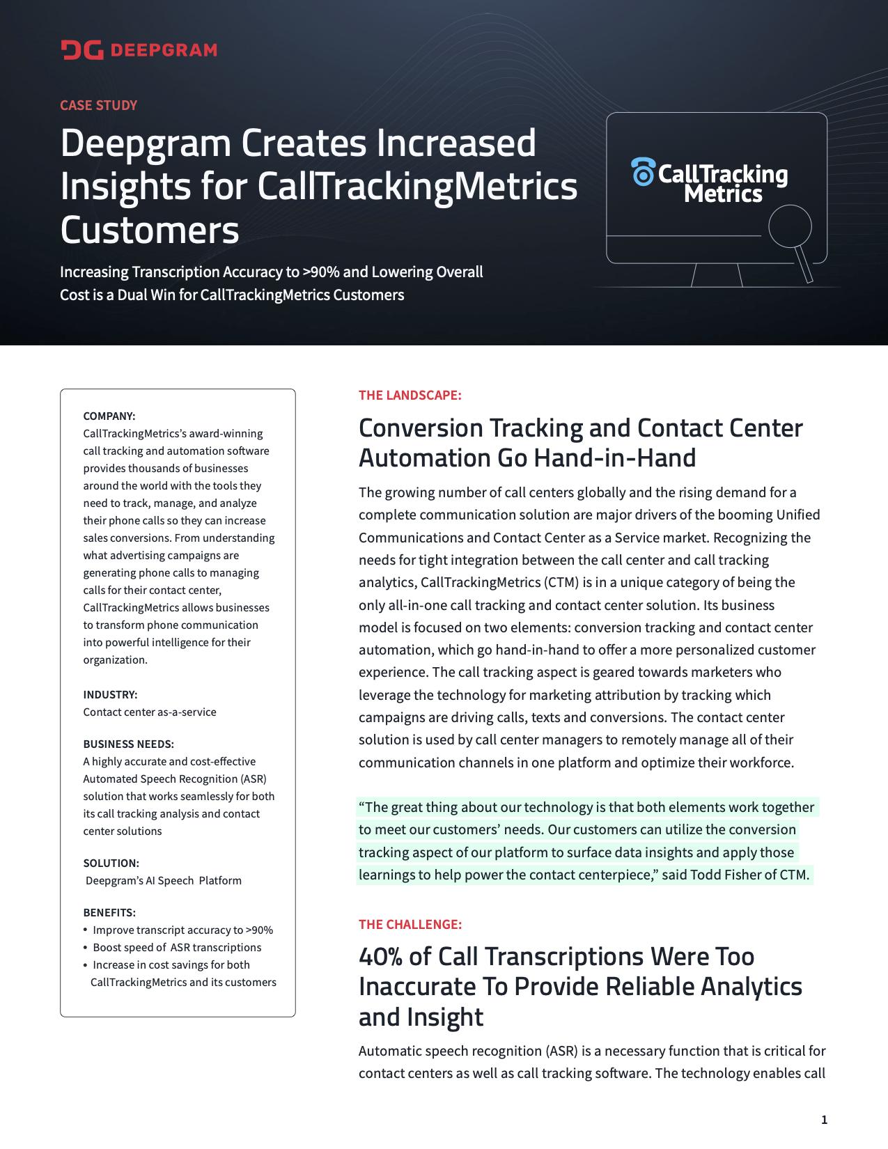 CallTrackingMetrics case study